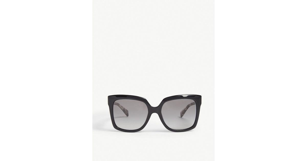 68d933c5365a Lyst - Michael Kors Mk2082 Cortina Square-frame Sunglasses in Black for Men