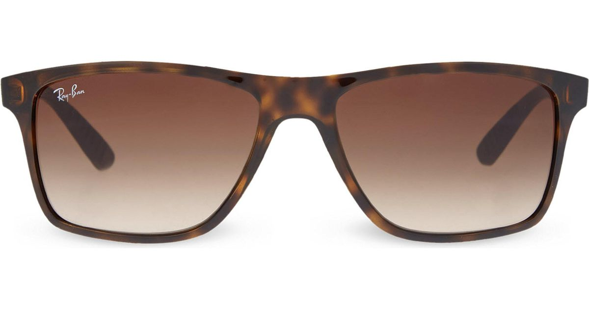 4d7861632 Ray-Ban Rb4234 Tortoise Shell Rectangular Sunglasses in Brown - Lyst