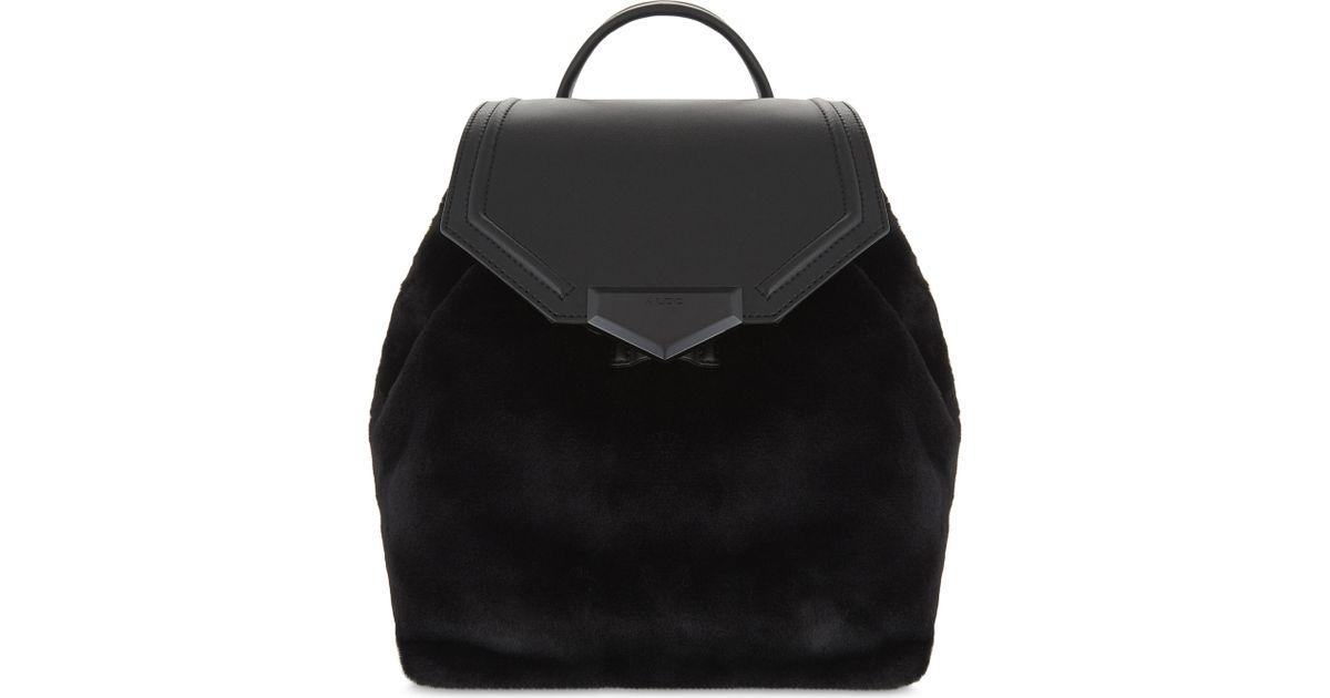 290bca5bd3d Lyst - ALDO Gazzone Faux-fur Backpack in Black