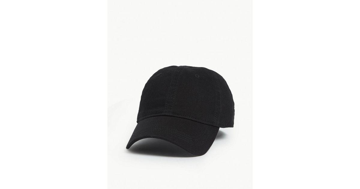 43801f9e1840 Lyst - Lacoste Side Logo Baseball Cap in Black for Men
