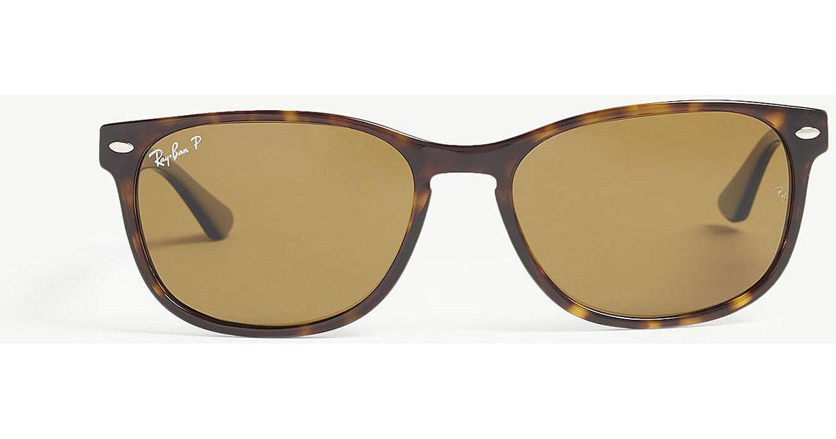 ab1e1dc5e3 Lyst - Ray-Ban Rb2184 Rectangle-frame Havana Sunglasses