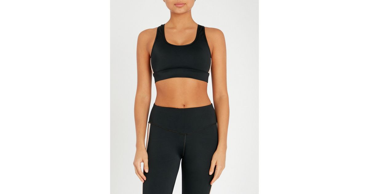 0c29978f99 Lyst - L urv Game Strong Stretch-jersey Bralette in Black