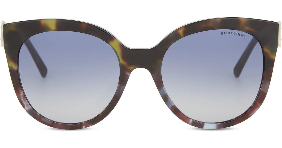 7f75b37c633 Lyst - Burberry Be4243 Cat Eye Sunglasses in Green