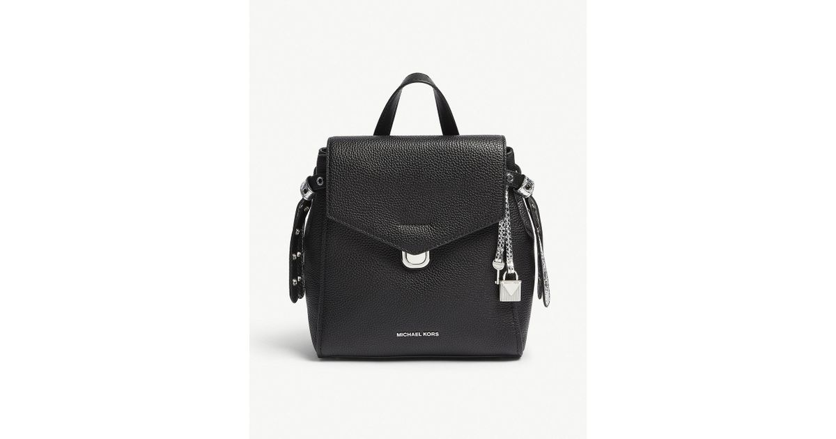 996ee41c01a2 MICHAEL Michael Kors Bristol Mini Leather Backpack in Black - Lyst