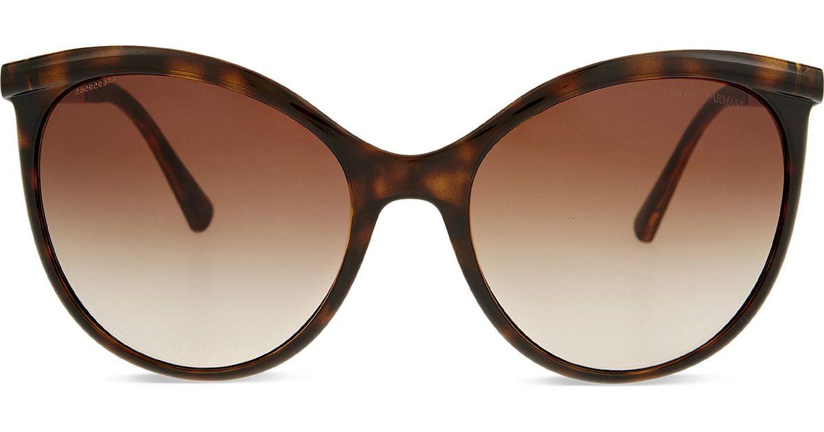 624994bde8 Lyst - Giorgio Armani Ar8070 Cat-eye Sunglasses in Brown