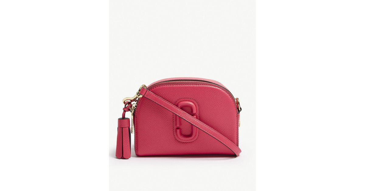 4ca7679d0781 Lyst - Marc Jacobs Shutter Small Leather Camera Bag in Red