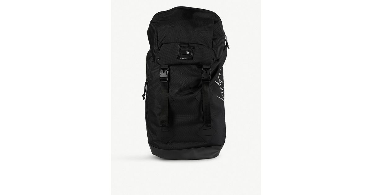 903b6ed9af Lyst - Yohji Yamamoto Logo-print Canvas Backpack in Black for Men