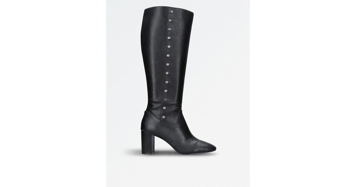 eab89bae5430 Lyst - Nine West Xois Knee-high Boots in Black