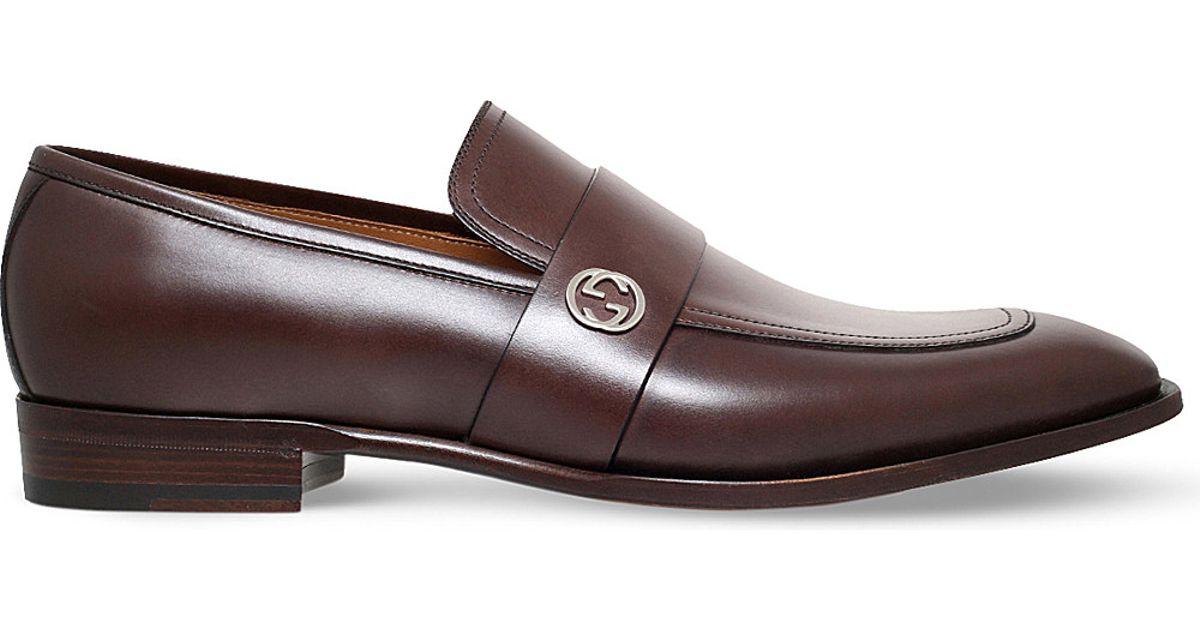 Gucci Broadwick Leather Loafers XZrR59HIt