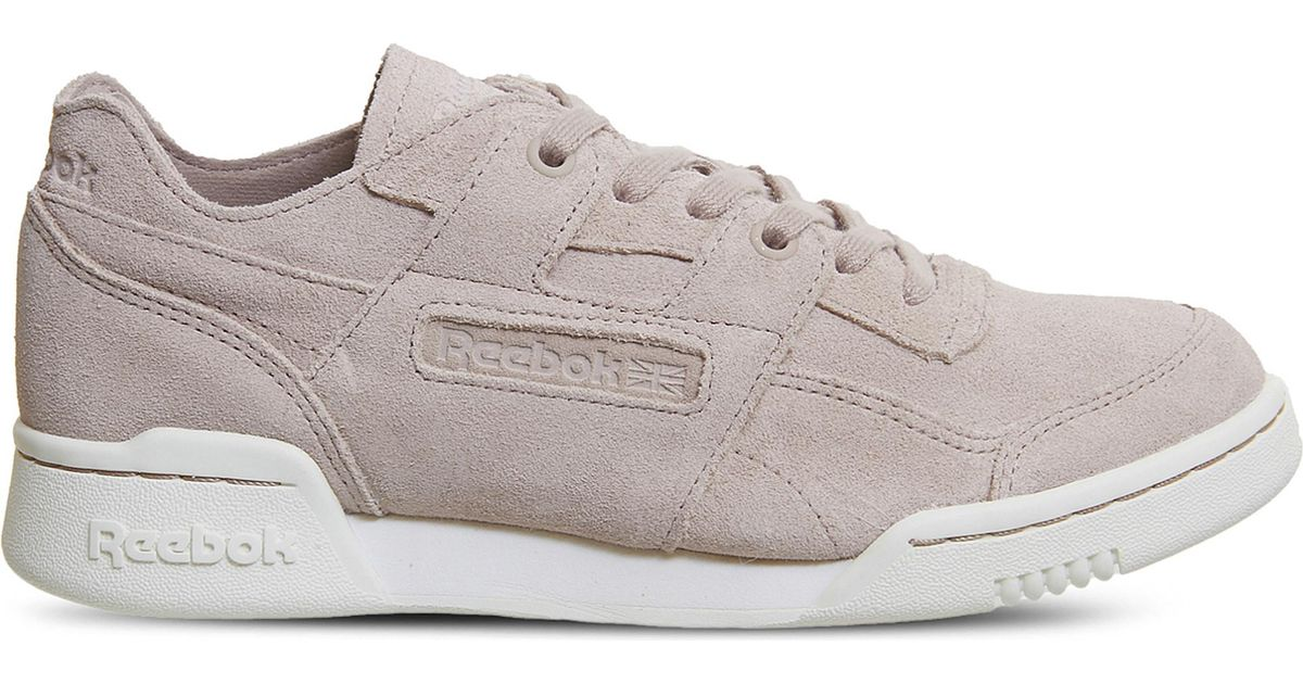 3e25eba5b27 Lyst - Reebok Workout Plus Suede Trainers in Pink for Men