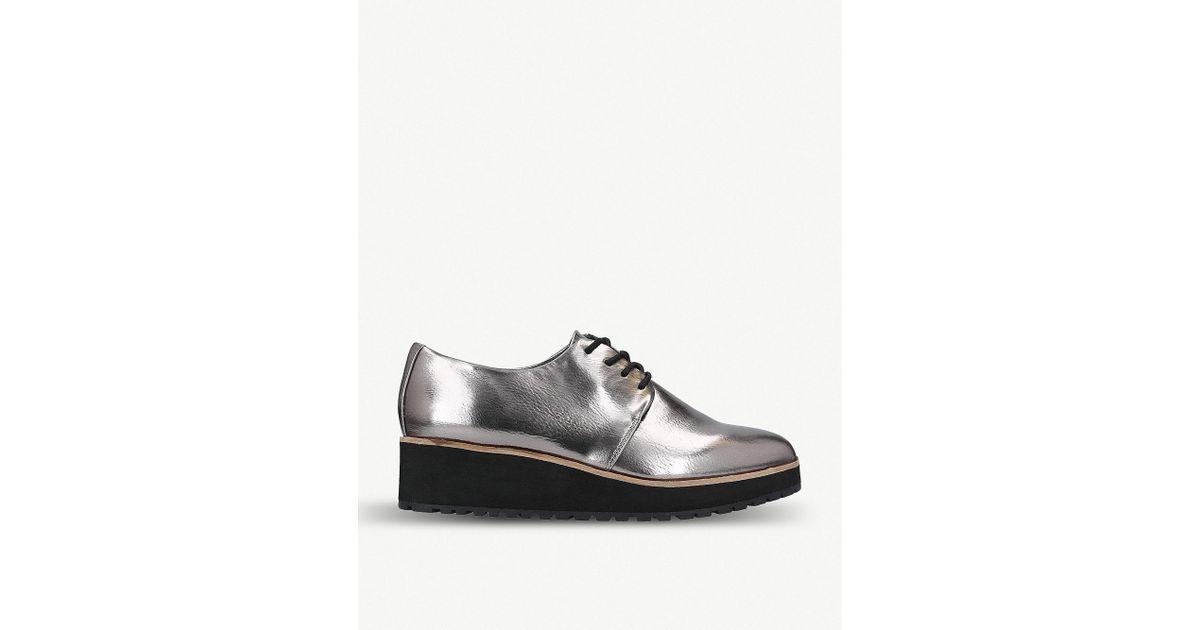 c63d4afe375 Lyst - ALDO Lovirede Faux-leather Platform Shoes in Metallic