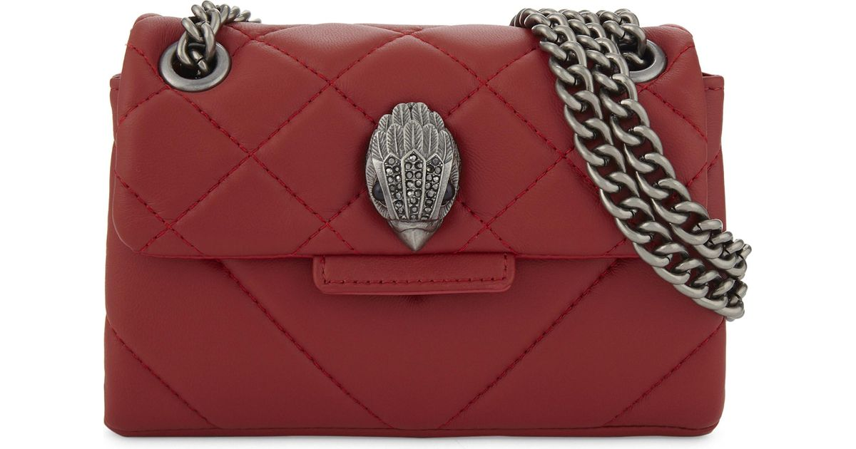 08fa58e615f7 Lyst - Kurt Geiger Mini Kensington Quilted Leather Cross-body Bag in Red