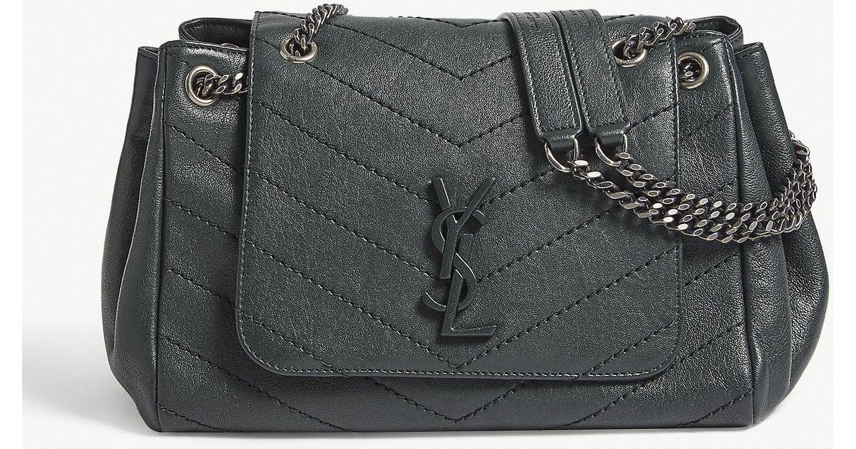 7da3851ff1 Saint Laurent Nolita Monogram Small Leather Shoulder Bag in Black - Lyst