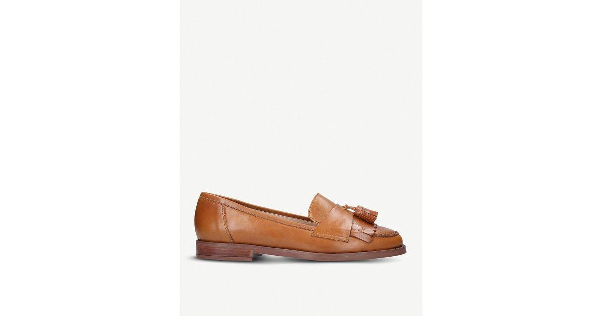 8c6a0f51bb6 Lyst - Carvela Kurt Geiger Leona Tassel Leather Loafers in Brown