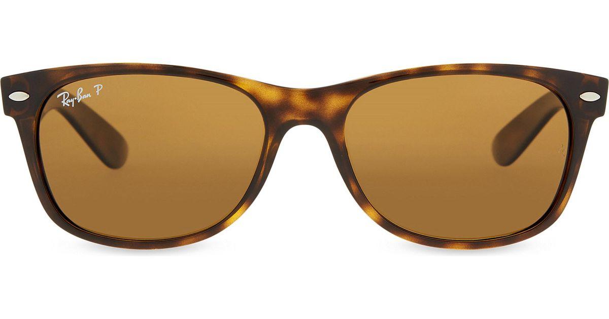 60fd6ede16 Lyst - Ray-Ban Rb2132 New Wayfarer Tortoiseshell Sunglasses in Green