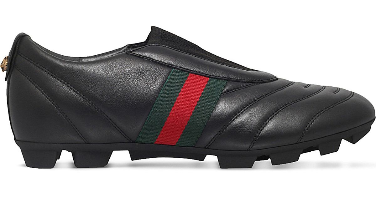 Lyst - Gucci Titan Leather Football Boots in Black for Men 58d86506b