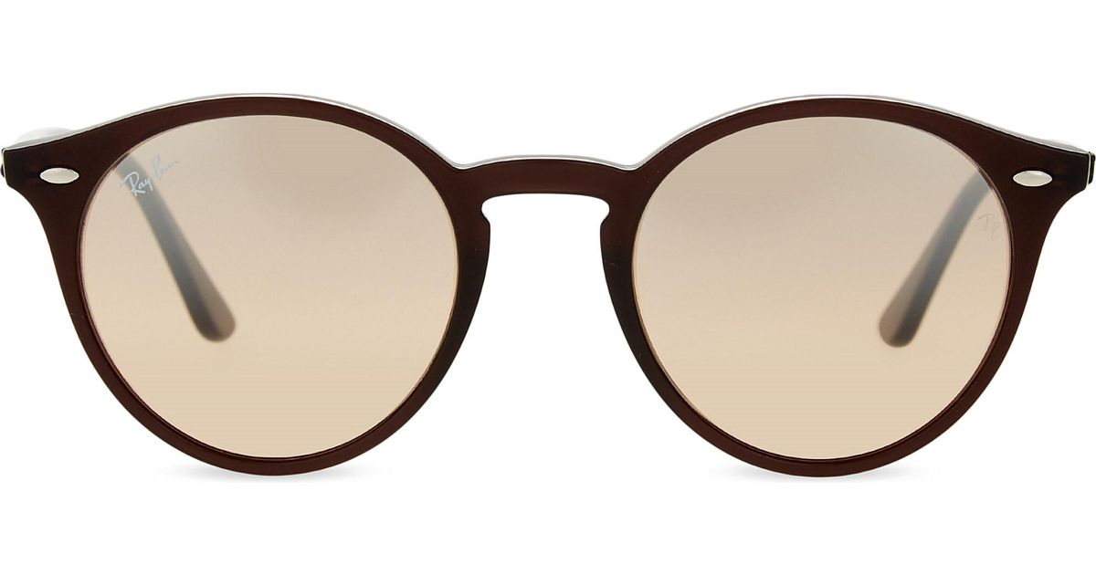 cd919d5d23 Ray-ban Rb2180 Round Framed Sunglasses Brown - Bitterroot Public Library