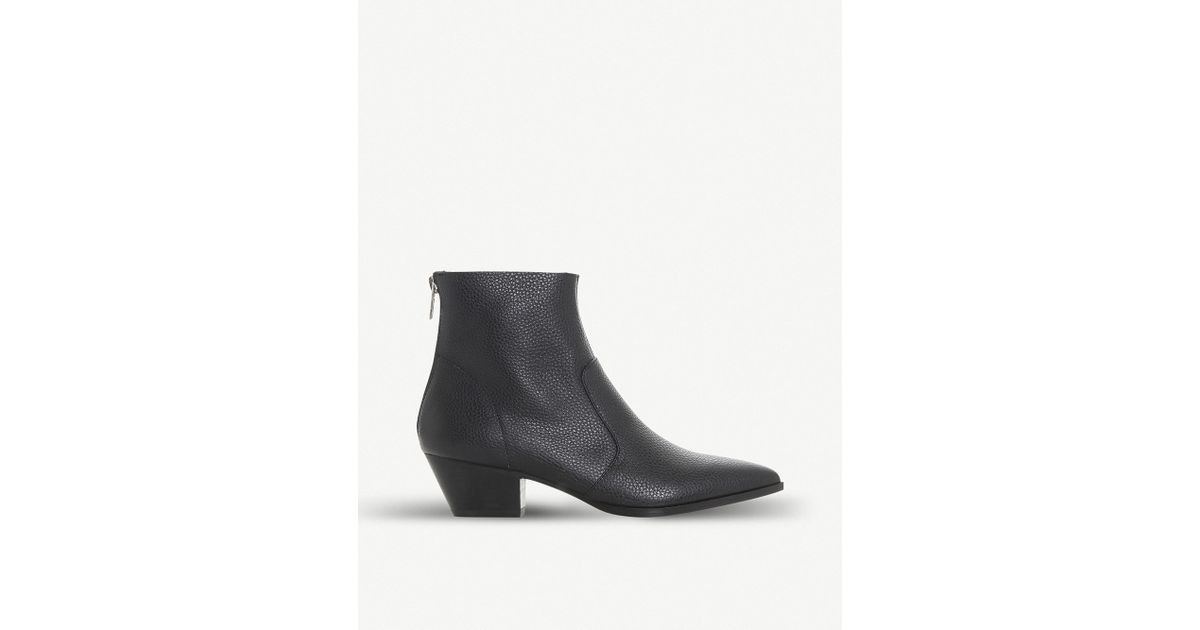915e0248ecd Lyst - Steve Madden Cafe Leather Ankle Boots in Black