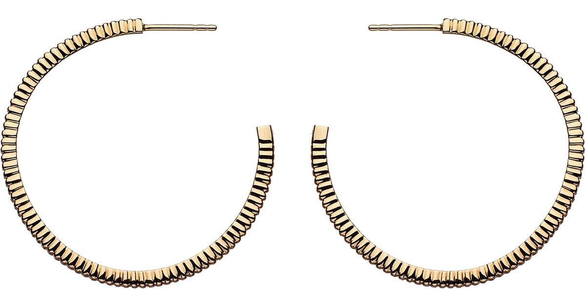 Lyst Links Of London Sweetie Signature 18ct Gold Earrings Hoop In Metallic