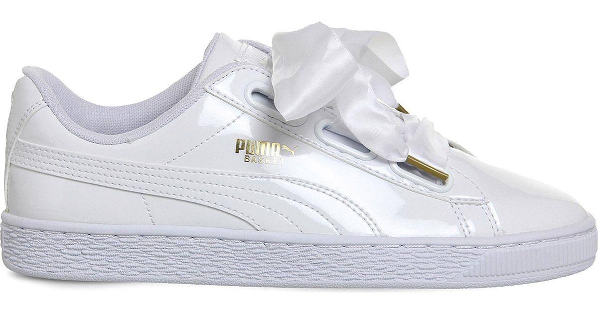 193a00b9fcfa0b PUMA Basket Heart Patent Wn's Sneaker in White - Save 50% - Lyst