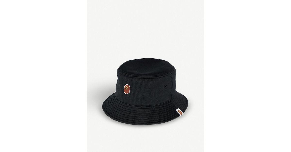 Lyst - A Bathing Ape Ape Head-logo Bucket Hat in Black for Men c2b55564f41
