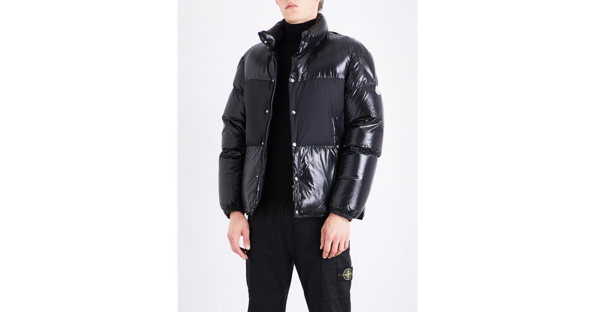moncler black down aynard jacket