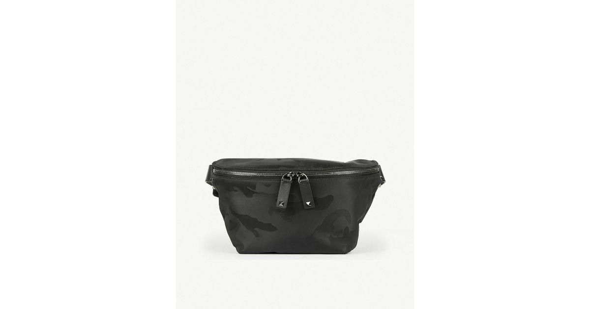 6c12212aebe Lyst - Valentino Camouflage Jacquard Belt Bag in Black for Men