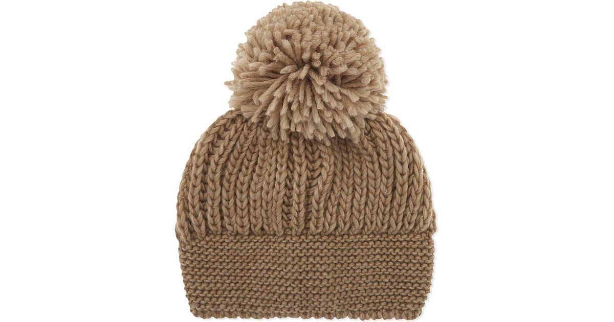 a7f080908aa Sandro Beryl Knitted Pom Pom Beanie - Lyst