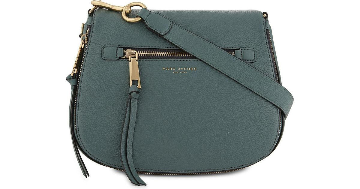 4819b2cab7 Marc Jacobs Recruit Leather Saddle Bag in Blue - Lyst