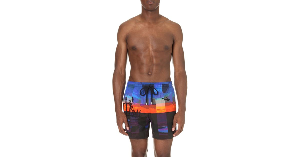 ab2bd242b7 Vilebrequin Tanger Embroidered Swim Shorts in Blue for Men - Lyst