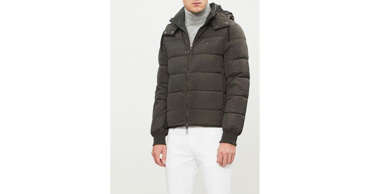 c93ce61f168b Lyst - Emporio Armani Eagle Logo-print Padded Down-blend Jacket in ...