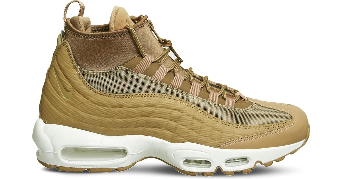 new styles 242a9 07f0a Nike Air Max 95 Sneakerboot Leather And Fabric High-top Trainers for Men -  Lyst