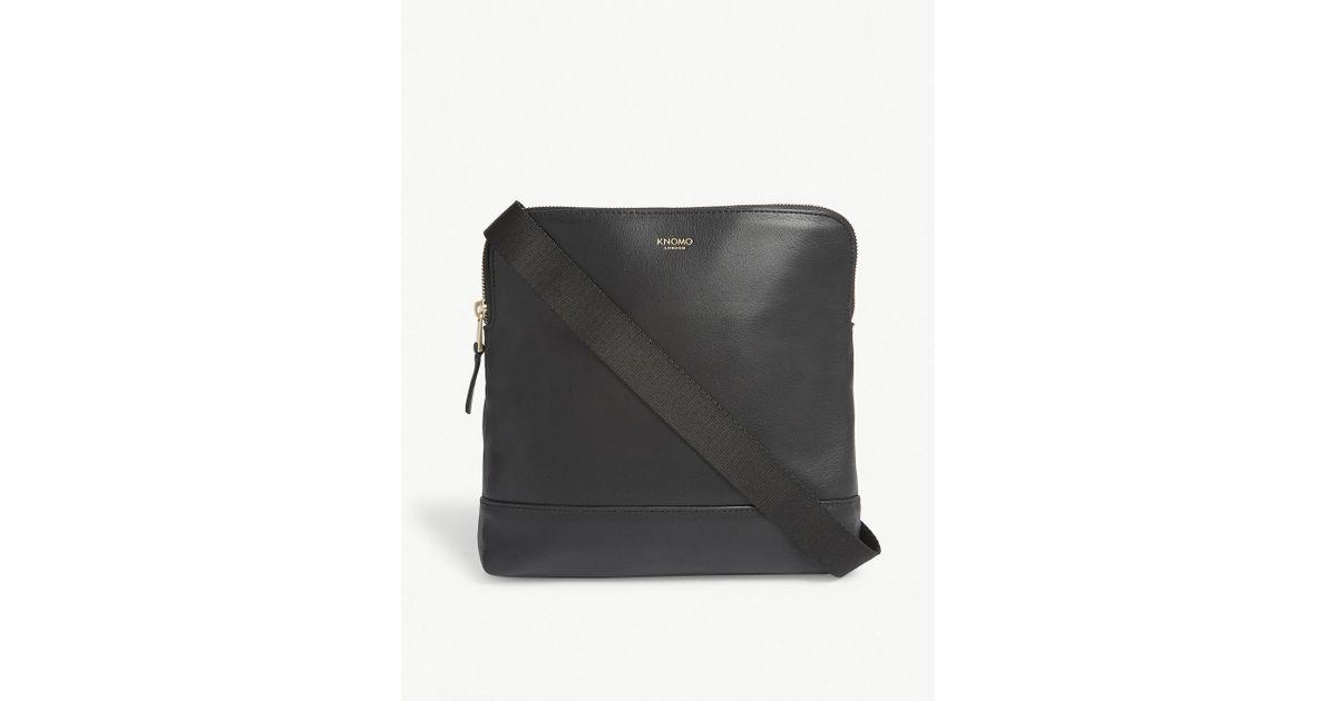 3069b51c8f Lyst - Knomo Mayfair Woodstock Leather Cross-body Bag in Black