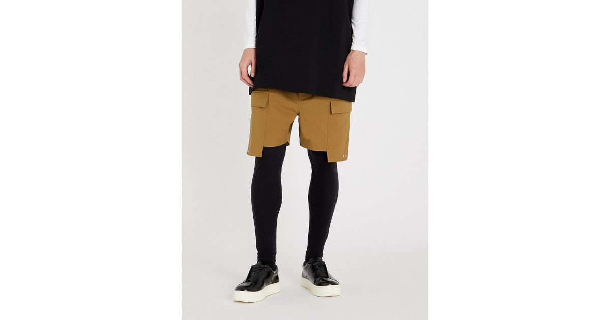 f8c1330c68 Lyst - Rick Owens Cargo Patch-pocket Stretch-cotton Shorts in Black for Men