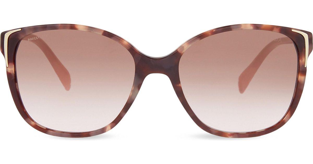 5dcb31ca5606 Prada Spr010 Square-frame Sunglasses in Pink - Lyst