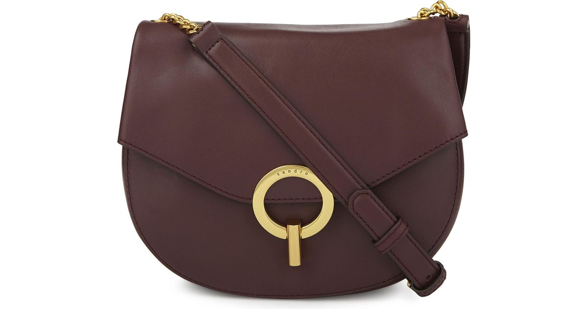 d3719b21a474 Lyst - Sandro Pepita Leather Cross-body Bag