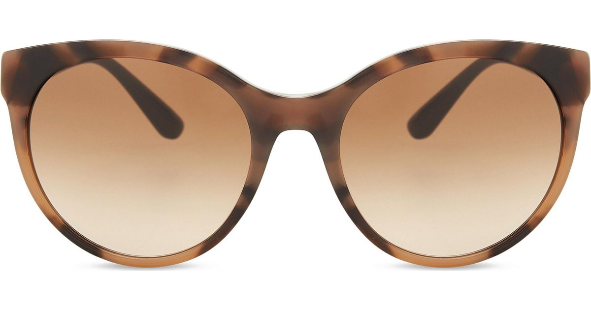 235382b694e5 Lyst - Burberry Be4236 Round-frame Sunglasses in Brown