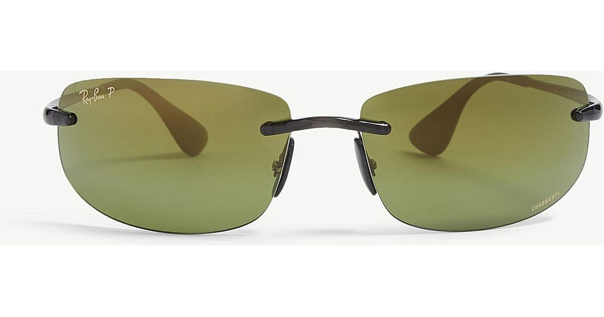 db3fb0c39d Lyst - Ray-Ban Rb4254 Chromance® Rectangular Sunglasses in Gray for Men