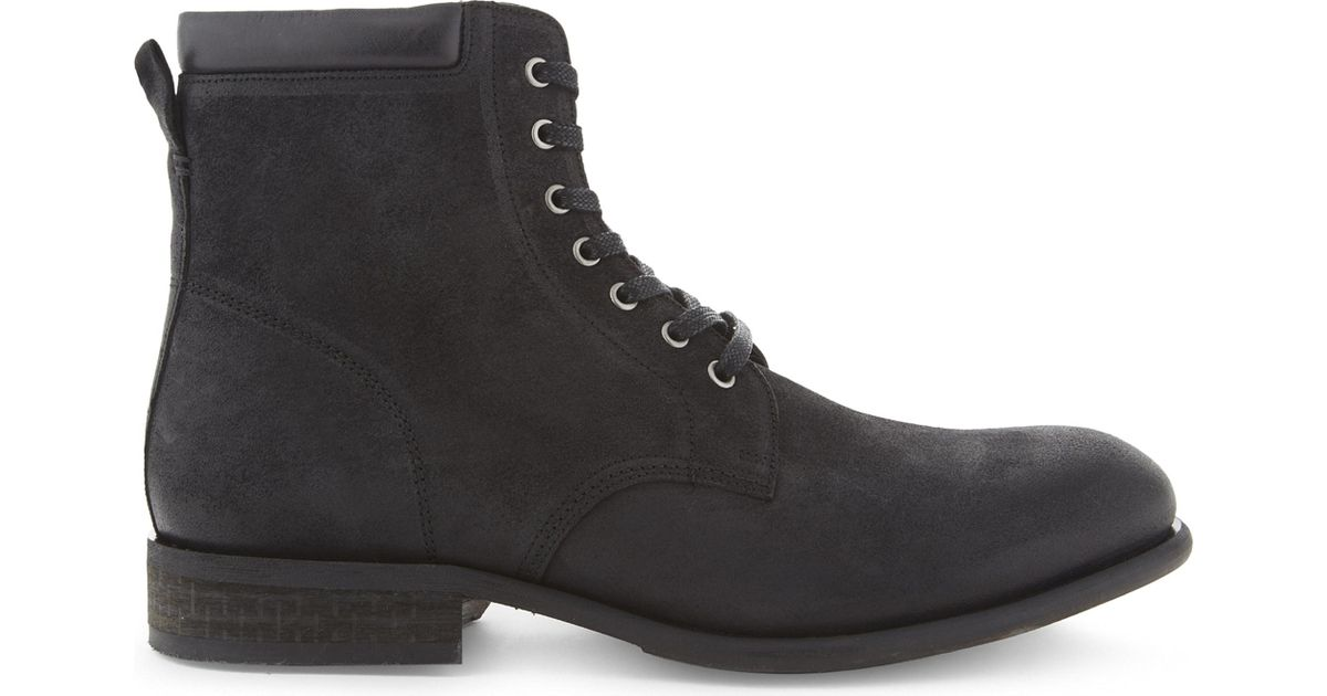 85f134a2d0 ALDO Derrian Leather Ankle Boots in Black for Men - Lyst