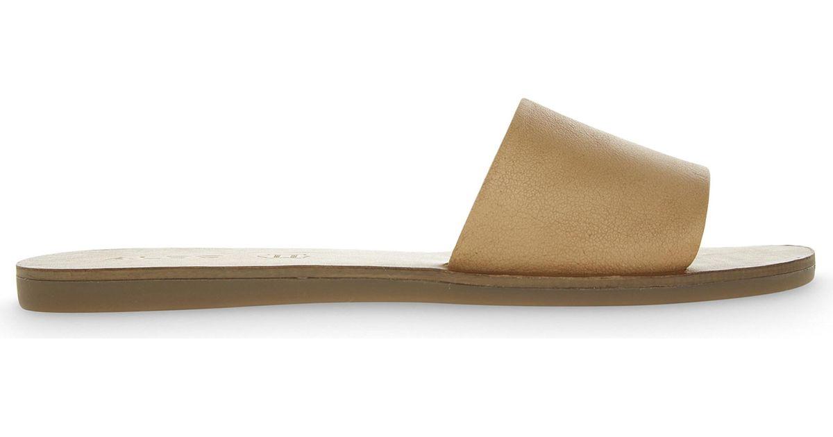 59c2330bb35d Lyst - ALDO Brittny Leather Sandals in Brown