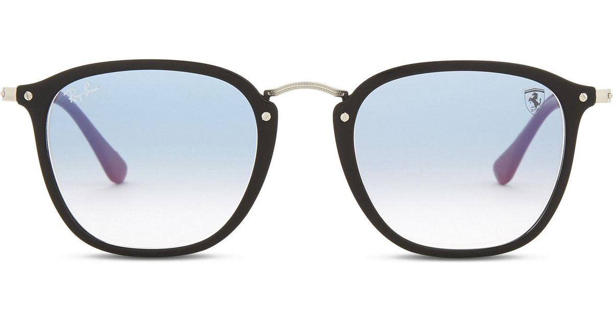 3af0b2b29b6 ... where can i buy lyst ray ban rb2448 square frame sunglasses in black  c4048 c9956