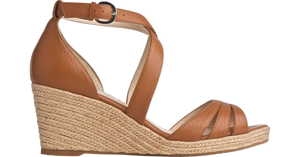 88eca88480e L.K.Bennett Priya Espadrille Wedge Sandals in Brown - Lyst
