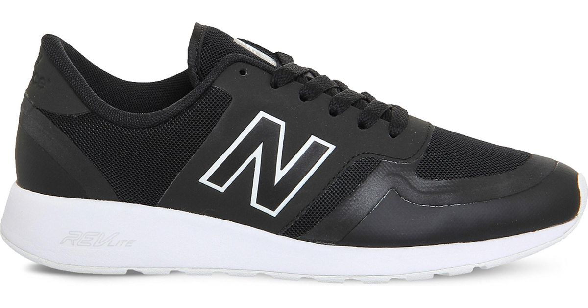 new balance black and white mesh 420