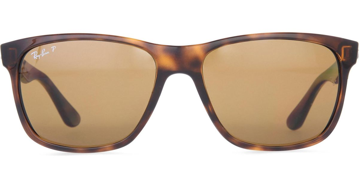 23d250036ad Ray-Ban Light Havana Square-frame Sunglasses With Brown Gradient Lenses  Rb4181 57 in Brown - Save 7.881773399014776% - Lyst