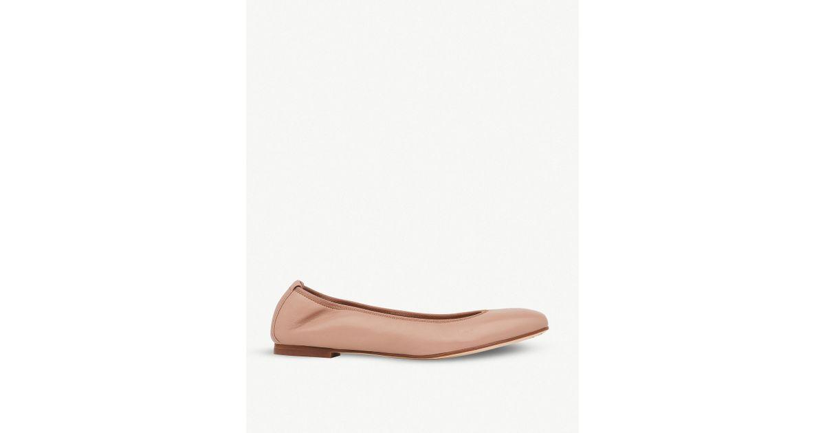 2c7441c7b Lyst - L.K.Bennett Trina Leather Ballerina Flats