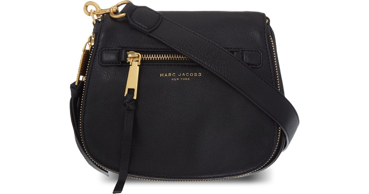 027f33bac89 Lyst - Marc Jacobs Recruit Small Grained Leather Saddle Bag in Black