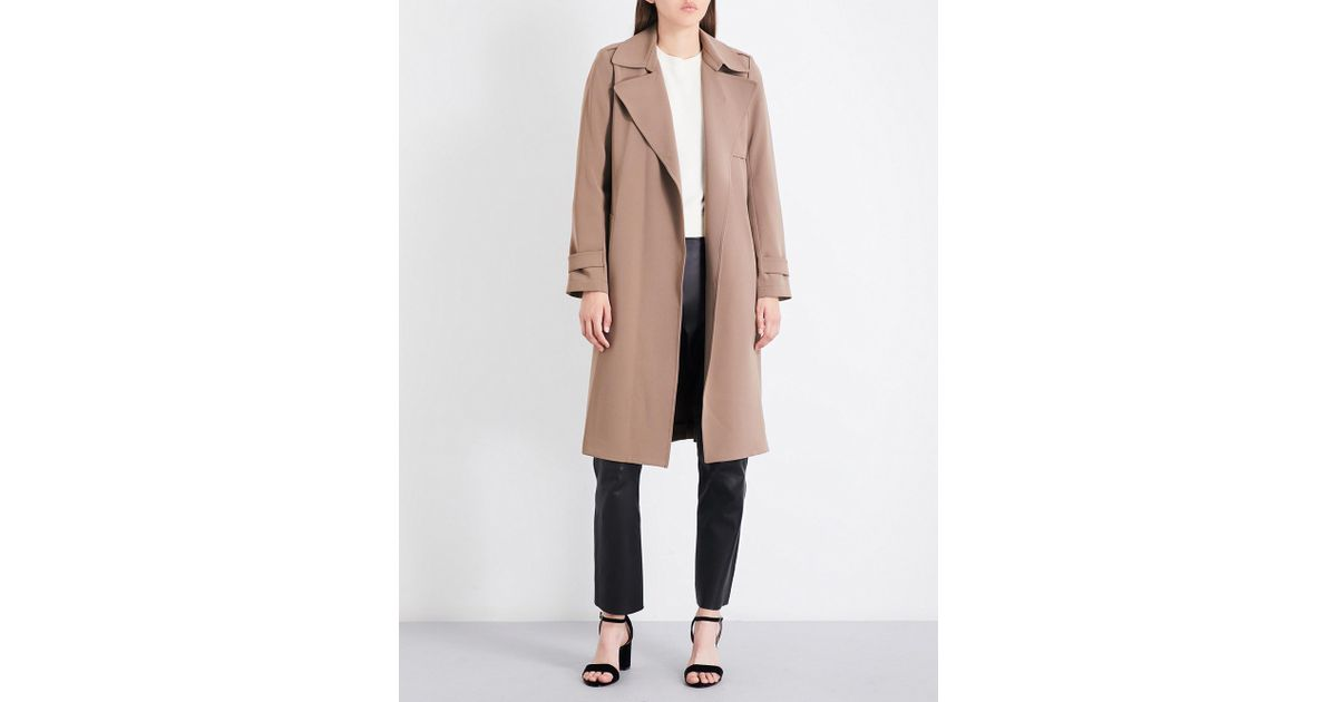 067d2ee9d5d Theory Oaklane Single-breasted Crepe Coat - Lyst