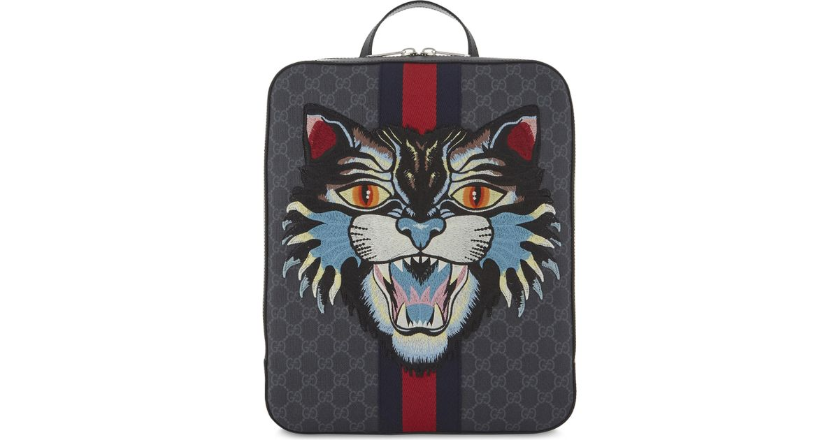 e06780db1b6 Lyst - Gucci Gg Lion Backpack in Black