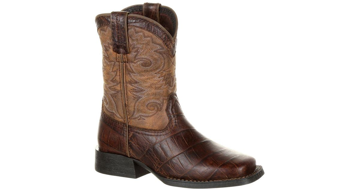 e7ccdce0e5d Durango - Brown Lil' Mustang Little Kids' Faux Gator Western Boot for Men -  Lyst