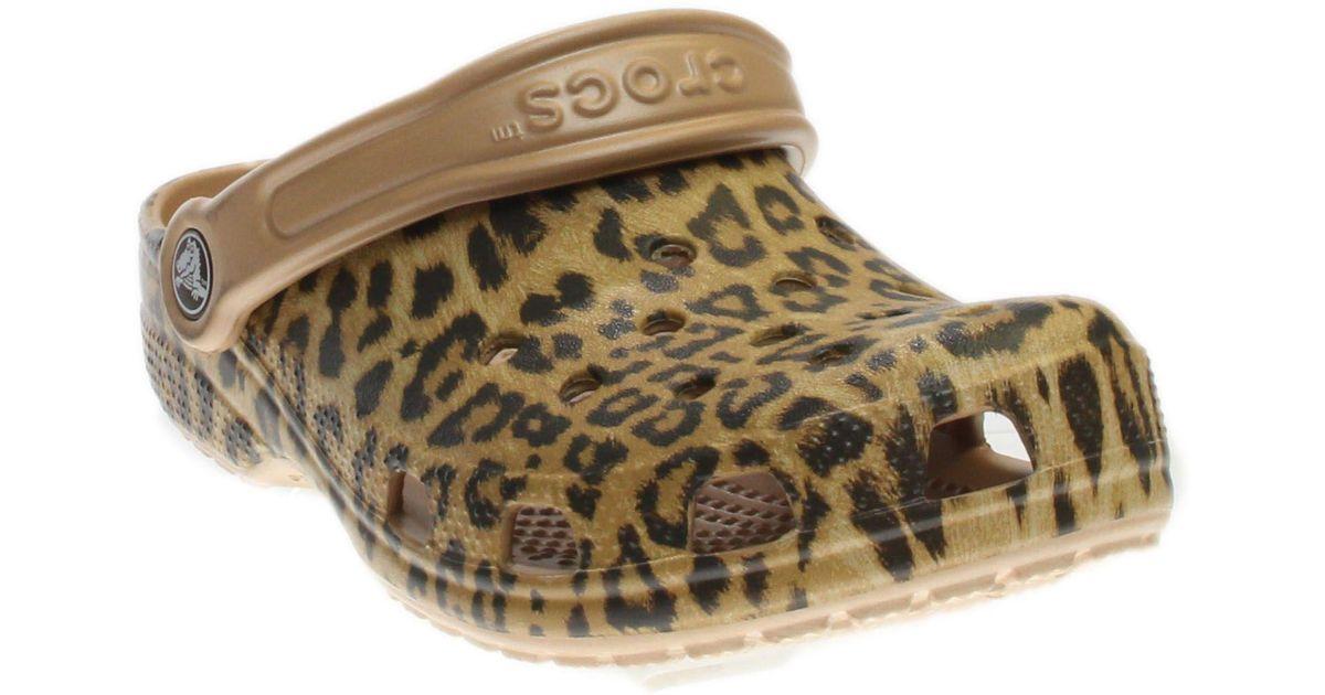 e765704a34af Lyst - Crocs™ Classic Leopard Ii Clog in Metallic